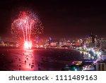 pattaya night view with... | Shutterstock . vector #1111489163