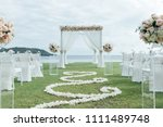 wedding ceremony setup | Shutterstock . vector #1111489748