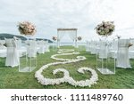 wedding ceremony setup | Shutterstock . vector #1111489760