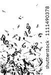 musical notes on white...   Shutterstock .eps vector #1111490378