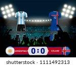 argentina versus iceland... | Shutterstock .eps vector #1111492313