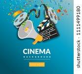 cinema festival banner design...   Shutterstock .eps vector #1111499180