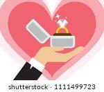 proposal marriage  vector... | Shutterstock .eps vector #1111499723