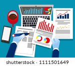 analyst business. auditor... | Shutterstock .eps vector #1111501649