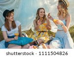 group of girls friends making... | Shutterstock . vector #1111504826