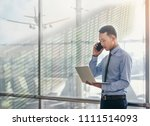 asian businesspeople are using... | Shutterstock . vector #1111514093