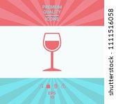 wineglass symbol icon | Shutterstock .eps vector #1111516058