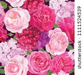 Seamless Pattern Of Pink Roses...