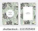 greenery wedding invitation...   Shutterstock .eps vector #1111525403