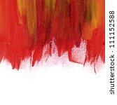 red hand painted brush stroke... | Shutterstock . vector #111152588
