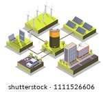 alternative energy concept... | Shutterstock .eps vector #1111526606