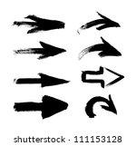 black vector hand painted brush ... | Shutterstock .eps vector #111153128