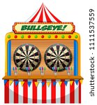 a fun fair game booth... | Shutterstock .eps vector #1111537559
