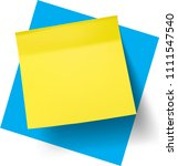 yellow stick note. vector... | Shutterstock .eps vector #1111547540