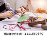 close up of the hand men hold... | Shutterstock . vector #1111550570