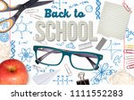 background with learning... | Shutterstock . vector #1111552283