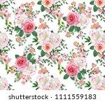 floral seamless pattern. flower ... | Shutterstock . vector #1111559183