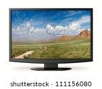 tv on white background.... | Shutterstock . vector #111156080