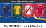 football players uniform ... | Shutterstock .eps vector #1111561826