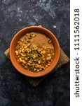 black eyed kidney beans curry... | Shutterstock . vector #1111562018