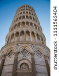 leaning tower of pisa  italy | Shutterstock . vector #1111563404