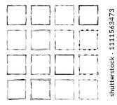 set of black rectangle grunge... | Shutterstock .eps vector #1111563473