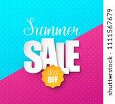 summer sale background. vector... | Shutterstock .eps vector #1111567679