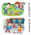 indian festival illustration | Shutterstock . vector #1111569173