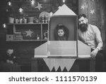 cosmonautics. rocket launch...   Shutterstock . vector #1111570139