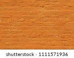 orange old vintage brick wall... | Shutterstock . vector #1111571936