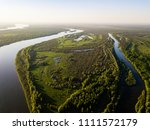Ob River Flows Through The...