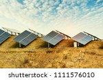solar energy modern electric... | Shutterstock . vector #1111576010