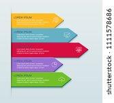 infographics business design... | Shutterstock .eps vector #1111578686