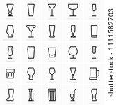 bar glasses icons | Shutterstock .eps vector #1111582703