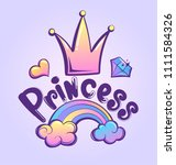 t shirt design for princess... | Shutterstock .eps vector #1111584326