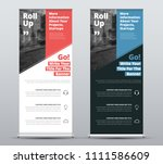 templates of vector white and... | Shutterstock .eps vector #1111586609