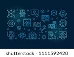 ar vector blue horizontal... | Shutterstock .eps vector #1111592420