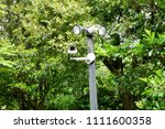 closed circuit camera on the... | Shutterstock . vector #1111600358