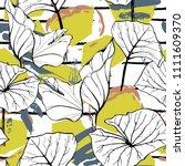tropical  modern stripes motif. ...   Shutterstock .eps vector #1111609370