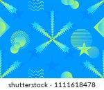 liquid color shape seamless... | Shutterstock .eps vector #1111618478