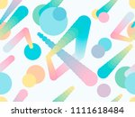 liquid color shape seamless... | Shutterstock .eps vector #1111618484
