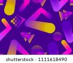 liquid color shape seamless... | Shutterstock .eps vector #1111618490