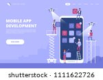 mobile app development concept... | Shutterstock .eps vector #1111622726
