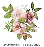 watercolor drawing of a branch... | Shutterstock . vector #1111624829