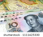 yuan on the map of china.... | Shutterstock . vector #1111625330