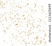 gold confetti  ribbons.... | Shutterstock .eps vector #1111625699