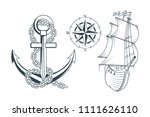 set of different anchors for... | Shutterstock .eps vector #1111626110
