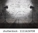 photo studio in old room with... | Shutterstock . vector #1111626938