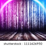 wooden interior background with ... | Shutterstock . vector #1111626950