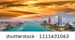 aerial panoramic view of miami... | Shutterstock . vector #1111631063